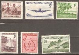 Cocos Keeli Islands 1963 SG 1-6 Unmounted Mint. - Cocos (Keeling) Islands