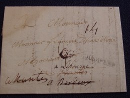 LOIRE ATLANTIQUE / Lettre De QUIMPER Avec REDIRECTIONS & DÉBOURSÉ MANUSCRIT De NANTES. - Marcophilie (Lettres)