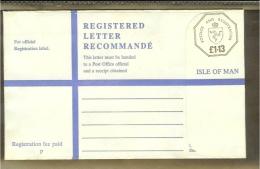 GB Isle Of Man Registered Letter (NEW) - Isle Of Man