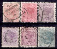 Nuova-Zelanda-0008 - 1882 - Valori Della Serie Y&T N. 60-66 (o) Used - Varie Dentellature - Privi Di Difetti Occulti - - 1855-1907 Crown Colony