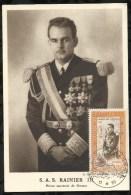 S.A.S. RAINIER III . 14 . 04 . 1950 . MONACO . - FDC