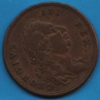 MIDDLESEX GEORGE III 1/2 HALF PENNY 1789   D&H 932  TOKEN - Professionnels/De Société
