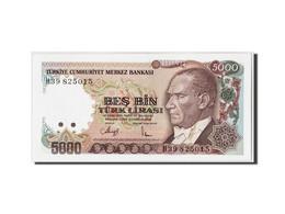 Turquie, 5000 Lira, L.1970 (1990), KM:198, Undated, NEUF - Turquie