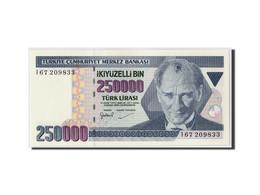 Turquie, 250,000 Lira, L.1970 (1992), KM:207, Undated, NEUF - Turquie