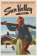 @@@ MAGNET - SUN VALLEY  IDAHO  WINTER SPORTS UNDER A SUMMER SUN - Pubblicitari