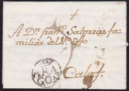1790 ARAGON. ZARAGOZA A CALAF. ESPAÑA/SPAIN. - ...-1850 Prephilately