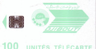 DJIBOUTI LOGO 100U SC7 N° ROUGES UT LUXE - Djibouti