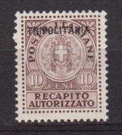 1931 TRIPOLITANIA RECAPITO AUTORIZZATO N.1 MH - Tripolitania