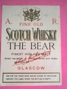 ETICHETTA A.R. FINE OLD SCOTCH WHISKY THE BEAR GLASGOW - Whisky