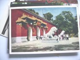 China Wit Stone Lions - China
