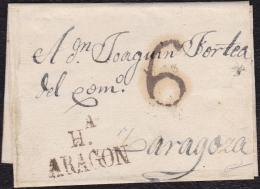 1822 ARAGON. HUESCA A ZARAGOZA. ESPAÑA/SPAIN. - ...-1850 Prephilately
