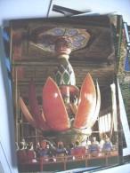 China Buddha Seen After Flowers - China