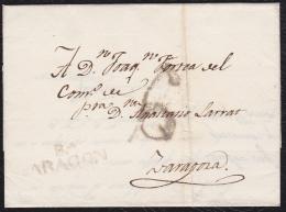 1818 ARAGON. MALLÉN A ZARAGOZA. ESPAÑA/SPAIN. - ...-1850 Prephilately
