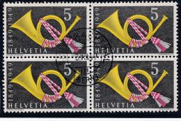 Schweiz Heimat BE SCHARNACHTAL 1949-08-03 Auf 4-er Block Zu#291 - Suisse