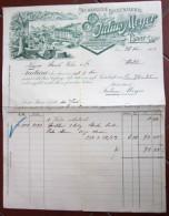 FATTURA JULIUS MEYER BAAR CANTON ZUGO MECHANISCHE SPULENFABRIK ANNO 1904 SVIZZERA - Svizzera