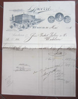 FATTURA J. SPOERRI ZURICH ZURIGO SVIZZERA ANNO 1896 - Svizzera