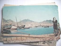 Jemen Yemen Aden Harbour With Boats - Yemen