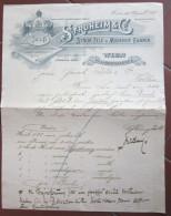 FATTURA STROHEIM & C. STROH FILZ U. MODEHUT FABRIK WIEN AUSTRIA WOHLEN ANNO 1898 - Austria