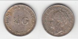**** CURACAO - PAYS-BAS - NETHERLANDS - 1/4 GULDEN 1947 WILHELMINA - ARGENT - SILVER **** EN ACHAT IMMEDIAT - Curacao