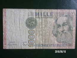 1000 Lires Italiennes (Marco Polo) - [ 2] 1946-… : Republiek