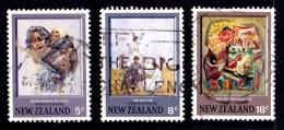New Zealand 1973 Hodgkins Paintings Three Used - - New Zealand