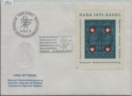 1971 NABA Basel - 81. Delegiertenversammlung Philatelisten Vereine - Briefmarkenausstelung - Blocs & Feuillets
