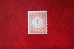 Port  Postage Due 1 Ct  NVPH P23 1913-1940 Ongebruikt / MH NEDERLAND INDIE / DUTCH INDIES - Nederlands-Indië