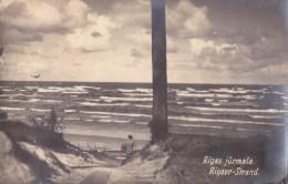 RIGA : RIGAS JURMALA / RIGAER STRAND - CARTE VRAIE PHOTO VOYAGÉE / REAL PHOTO POSTCARD MAILED In 1929 (u-388) - Lettonie