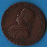 SUSSEX CHICHESTER AND PORTSMOUTH HALFPENNY 1794  IOHN HOWARD F. R. S PHILANTHROPIST - Professionals/Firms
