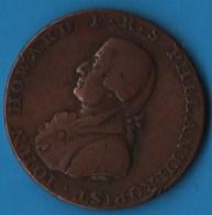 SUSSEX CHICHESTER AND PORTSMOUTH HALFPENNY 1794  IOHN HOWARD F. R. S PHILANTHROPIST - Professionnels/De Société