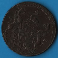 Yorkshire Downing's Huddersfield  HALFPENNY 1793  EAST INDIA HOUSE DH-15 - Professionals/Firms