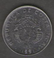 COSTA RICA 1 COLON 1991 - Costa Rica