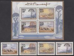 AFRICA DEL SUR 1989 - Yvert #696/99+H23 - MNH ** - Nuevos
