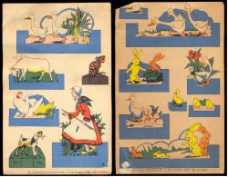 Deux Anciennes Planches à Découper- Editions Du Pélikan Blanc, Paris. - Vieux Papiers