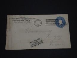 ETATS-UNIS - Lettre Entier 1c Partie De NY Pour Vienne Autriche Puis Redirigée - 1894 - P19576