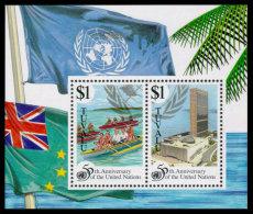 Tuvalu, 1995, United Nations 50th Anniversary, MNH, Michel Block 54 - Tuvalu