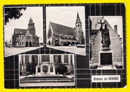 GROETEN UIT ARDOOIE Kerk Gemeentehuis Monument Oorlogsmonument FOTOKAART MULTIVIEUW Drukkerij Devriese CARTE PHOTO 2884 - Ardooie