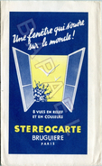 Pochette (VIDE) Publicitaire De ''Stereocarte'' (Recto-Verso) - Publicités