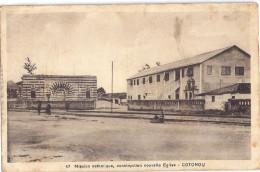 COTONOU BENIN 47 MISSION CATHOLIQUE , CONSTRUCTION NOUVELLE EGLISE  CARTE ANIMEE - Benin