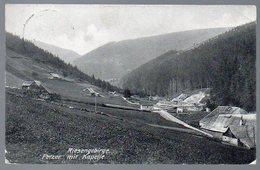 Alte Postkarte,PETZER MIT KAPELLE,RIESENGEBIRGE,Pec Pod Snezku,gelaufen 1904 - Böhmen Und Mähren