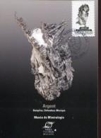 10080 France,  Maximum 2016 Le Monde Mineral, Argent,  Argento,  Silver - Minerals