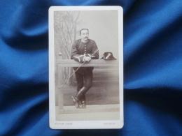 Photo CDV V. Coué à Saumur - Militaire Cavalier Instructeur école De Cavalerie Circa 1875 L261 - Photographs