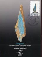 10083 France,  Maximum 2016 Le Monde Minerals,  Turquoise, Turchese, - Minerals
