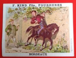 Bordeaux à La Martre Du Canada Kind Fils Fourrures Jolie Chromo Lauronce Jeune Garçon Sur Un Joli Cheval - Non Classificati