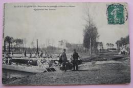 62 ECOURT SAINT ST QUENTIN Exercice De Pontage Du Génie Du Marais, équipement Des Bateaux - France