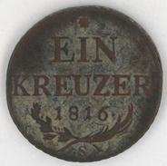 Ein Kreuzer / 1 Kreuzer - Series S - Copper Coin -  Year 1816 - Austria