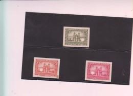 E)1944 ECUADOR, PROOFS, CATHEDRAL OF QUITO, 243 TO 245, SET, MNH - Ecuador