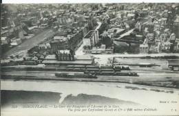 BERCK PLAGE - La Gare Des Voageurs Et L'avenue De La Gare, Vue Prise Du Cerf-volant Gomès à 200 Mètre D´altitude - Berck