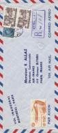 Vol Inaugural Montréal - Paris En Recommandé 1950 - Marcophilie (Lettres)