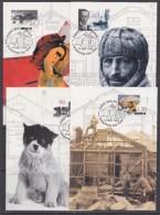 AAT 1999 Mawson´s Hut Restoration 4v 4 Maxicards (F5210) - Australian Antarctic Territory (AAT)